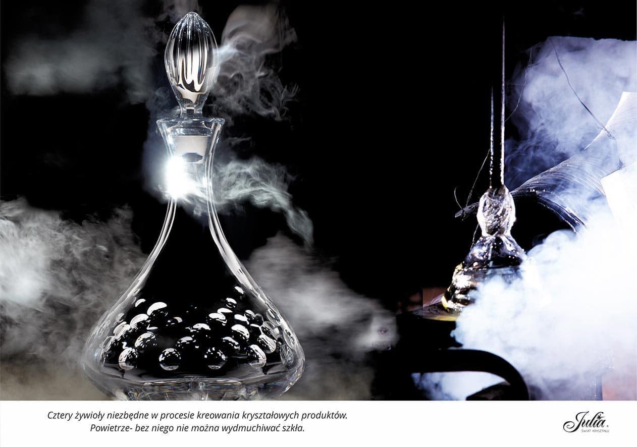 Cztery żywioły niezbędne w procesie kreowania kryształowych produktów. Powietrze – bez niego nie można wydmuchiwać szkła
