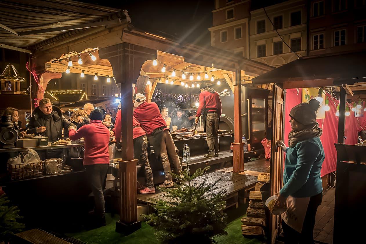 Jarmark Bożonarodzeniowy, Rynek we Wrocławiu. Zdjęcie Wiesław Jurewicz