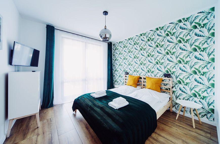 Apartament Wygodny sypialnia Szklarska Poręba zdjęcie Sara Dziuba blog SunSeasons24