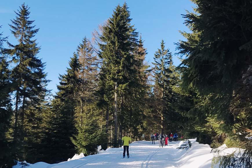 Zjazd narciarstwo biegowe na Dolnym Śląsku Jakuszyce zdjęcie Sara Dziuba blog SunSeasons24