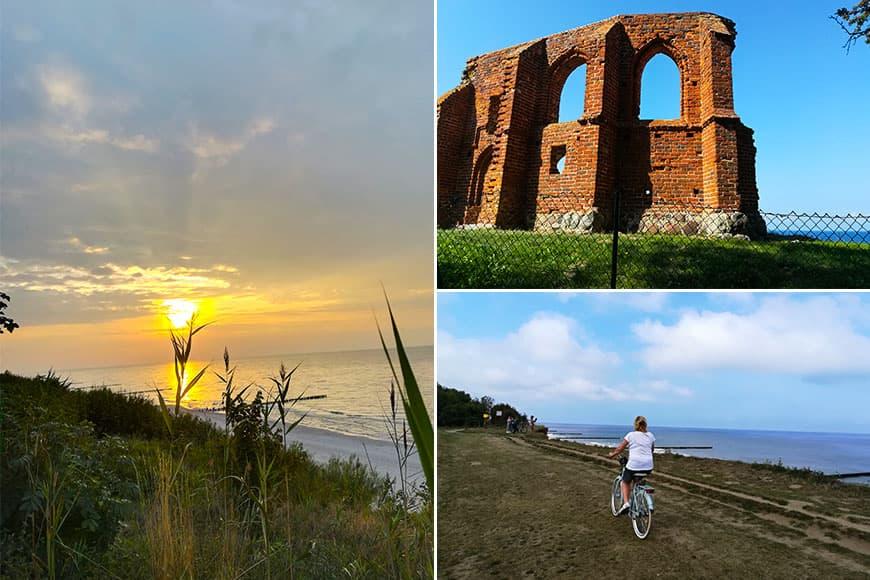 Trasa rowerowa do Trzęsacza. Ruiny zabytkowego kościoła w Trzęsaczu. Zdjęcia Zbigniew Pasieka blog SunSeasons24