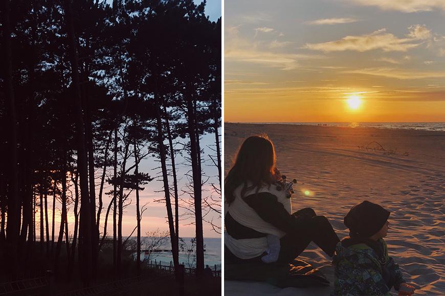Zachód słońca, Morze Bałtyckie. Rogowo wakacje z dziećmi. Zdjęcie Dawid blog SunSeasons24