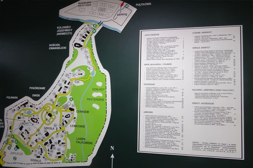 Mapa muzeum skansenowskiego w Nowym Sączu zdjęcie Barbara Jakimowicz-Klein blog SunSeasons24