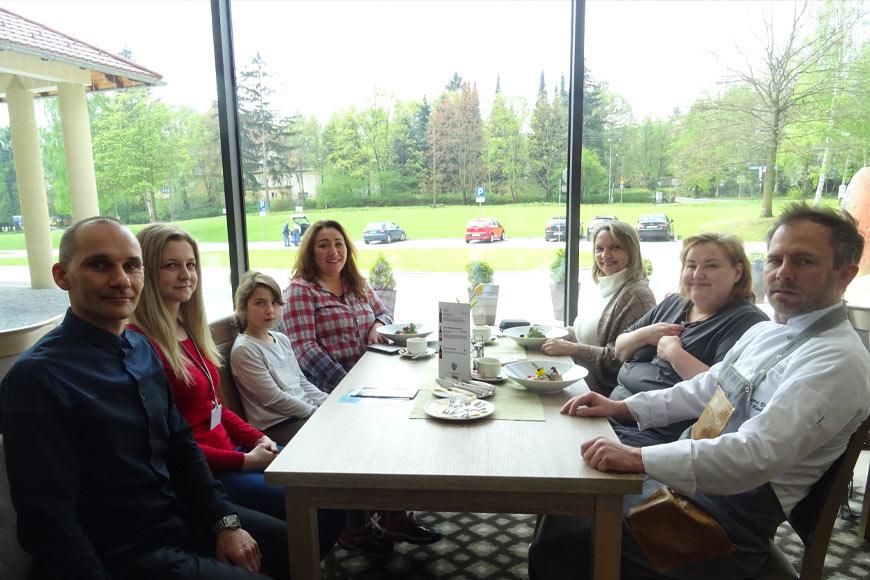 Spotkanie z szefem kuchni Grzegorzem Dudą. Zdjęcie Barbara Jakimowicz-Klein. Blog SunSeasons24