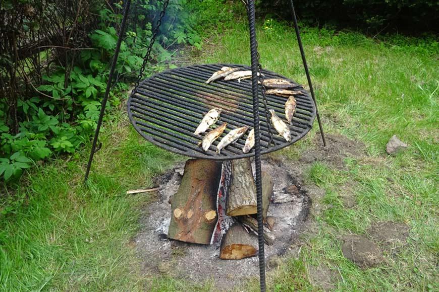 Pieczone ryby na Zamku Czocha. Zdjęcie Barbara Jakimowicz-Klein. Blog SunSeasons24.