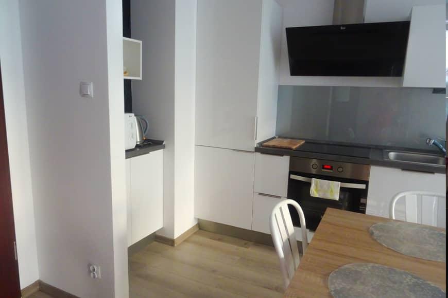Apartament SEASIDE w Kołobrzegu, widok na aneks. Zdjęcie Barbara Jakimowicz-Klein. Blog SunSeasons24