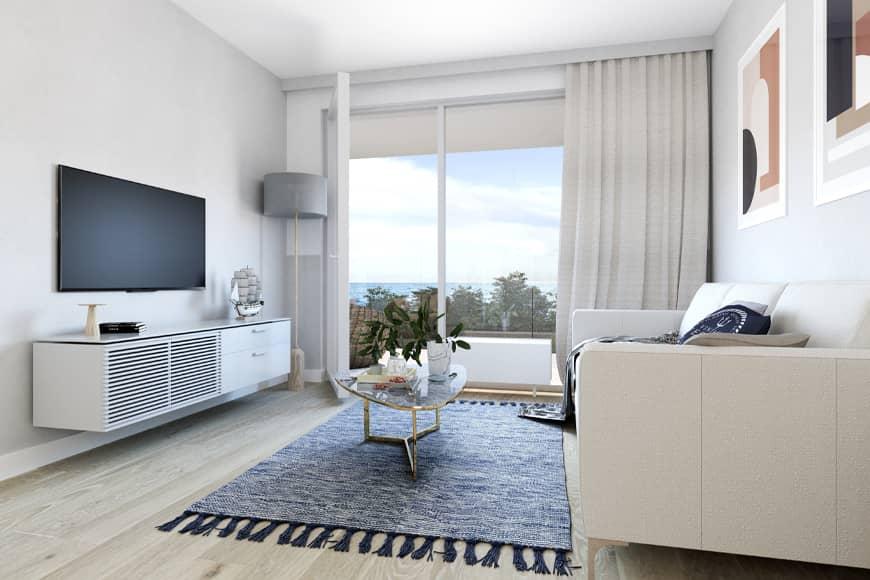 Salon z widokiem na morze. Apartamenty Gąski. Blog SunSeasons24