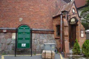 Wejście do browaru – restauracji Colberg w wieży ciśnień w Kołobrzegu. Zdjęcie Barbra Jakimowicz-Klein. Blog SunSeasons24