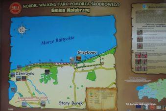 Trasa nordic walking przebiegająca przez Grzybowo. Zdjęcie Barbara Jakimowicz-Klein. Blog SunSeasons24