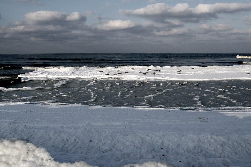 Zima nad morzem w Kołobrzegu. Zdjęcie Sara. Blog SunSeasons24