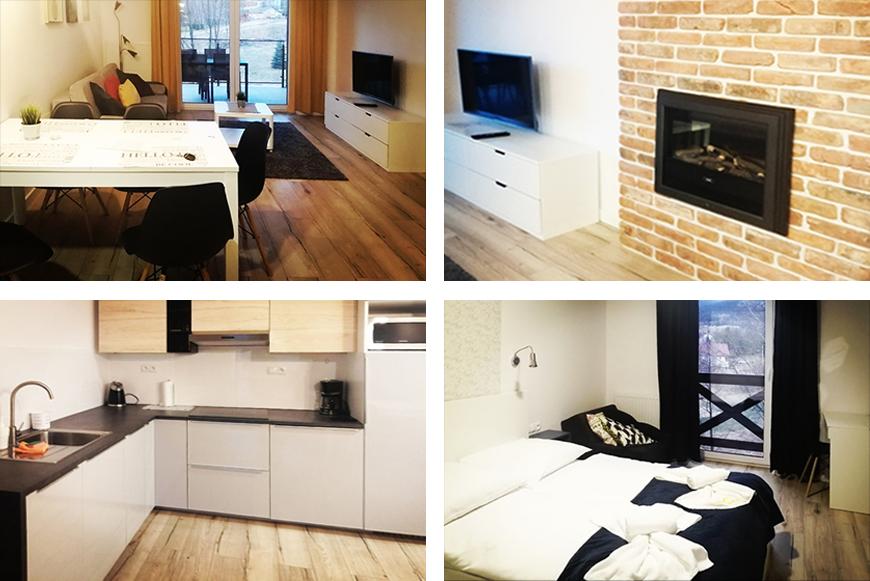 Apartament z kominkiem. Zdjęcie Barbara Jakimowicz-Klein. Blog SunSeasons24