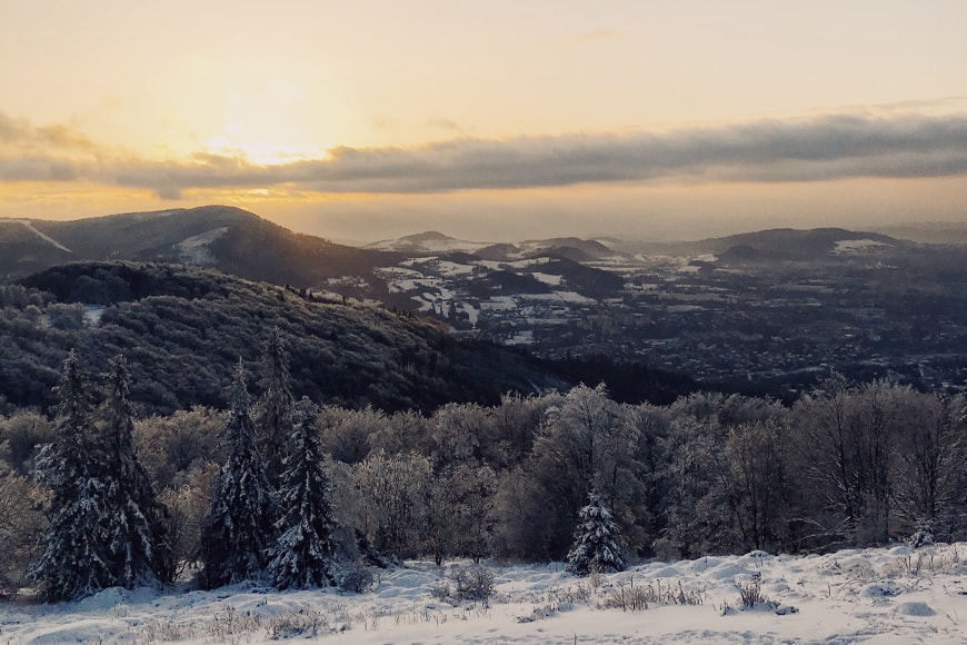 Zachód słońca na Równicy Ustroń. Zdjęcie Sara. Blog SunSeasons24.